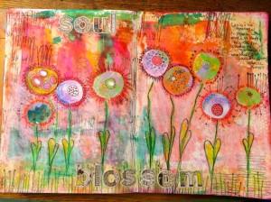 Soul Blossom -- painting by Corrinne Gilman at http://www.sparkledaysstudio.com/2015/04/09/soul-blossom/